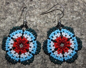Huichol Peyote Beaded Earrings Y