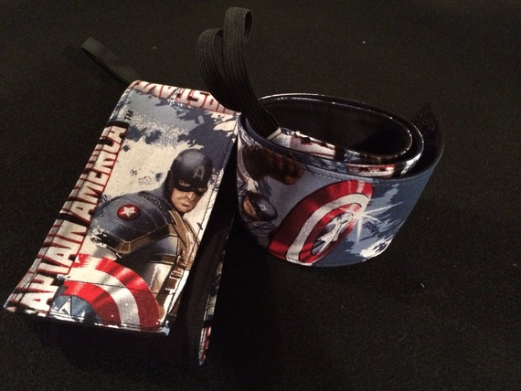 Crossfit Wrist Wraps-Compression Wrist Wraps-Captain America Wraps With Velcro and Elastic Thumb Loops-Workout Wrist Wraps