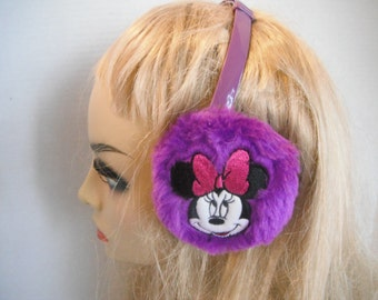 Vintage Thinsulate purple Minnie Mouse ear muffs
