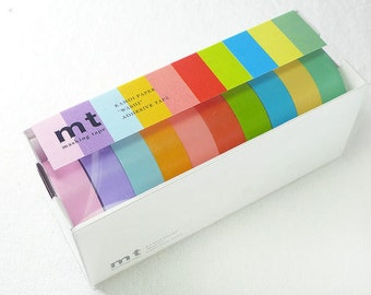 2013 summer mt washi  Masking Tape / light  colours - 15mm  x10M  10 color for one set /MT10P003