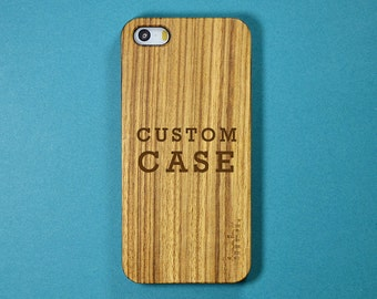 Custom iPhone 5s Case, Personalized Wood iPhone 5 Case - Free Shipping in the USA