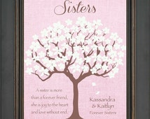 SISTERS Personalized Gift - Birthday Gift for Sister - Wedding Day Gift - Christmas Gift - Maid of Honor Gift - Wording can be changed