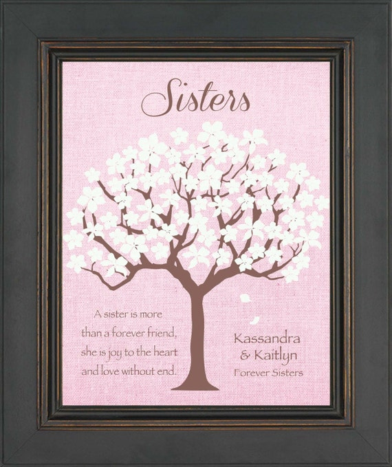 A Special Wedding Gift For My Sister : SISTERS Personalized Gift - Birthday Gift for Sister - Wedding Day ...