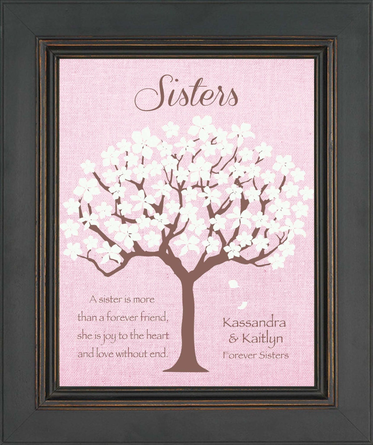 SISTERS Personalized Gift Birthday Gift For Sister Wedding