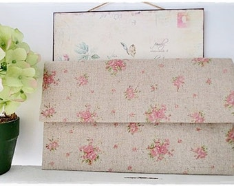 Bridesmaids large envelope clutch peach pink rose evening purse