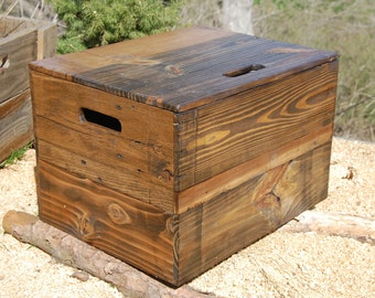Wooden Crate End Table/ Side Table/ Bedside Table/ Low Table/ Beehive Collection