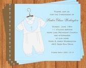 Baby Boy Invitation | Christening | Printable Digital File | RI312DIY