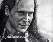 Drawing of Loki (Tom Hiddleston) from Thor: The Dark World
