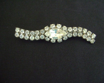 Vintage Marque and other Rhinestones Brooch