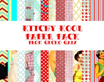 Kitchy Kool Digital Paper Pack