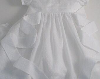 White Dotted Swiss Dress