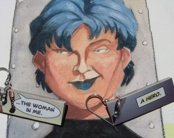 Comic Earrings - The Hero In Me