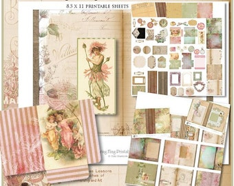 Spring Fling 5x7 Printable Journal Kit