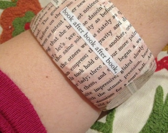 Reader inspired Literary Bangle - Large