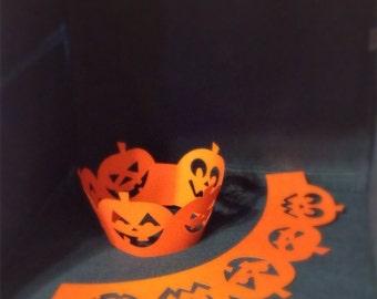 Pumpkin patch cupcake wraps