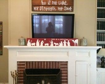 Nativity mantle board