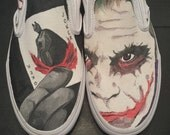 Hand-painted Batman the Joker on Vans