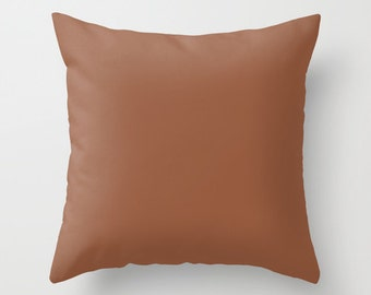 Coconut Pillow, #965A3E, Solid Brown Pillow, Brown Pillow, Minimalist Decor, Modern Decor, Modern Pillow, Throw Pillow