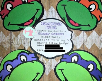 Custom Handmade Birthday Invitations-Birthday Invitations-Character Invites