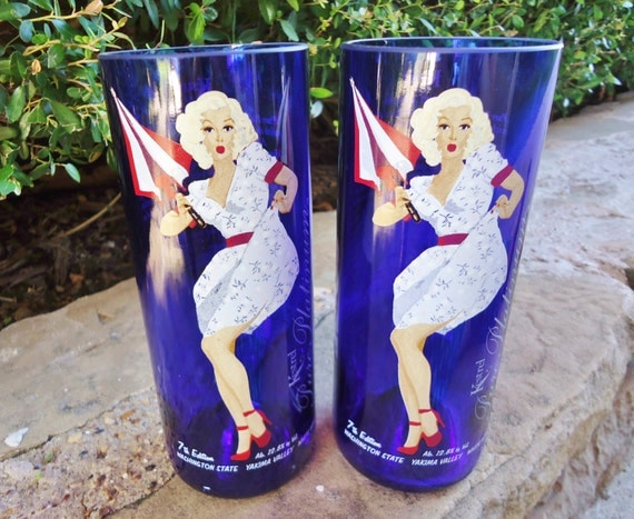 Recycled Wine Bottle Glasses Kestrel Pure Platinum Pinup Set of 2