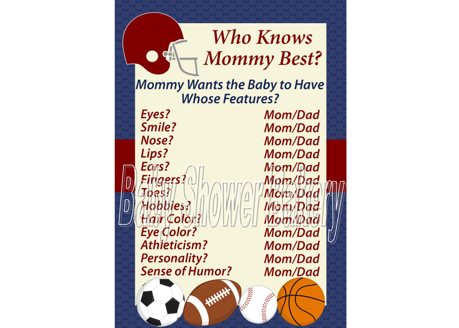 sports theme baby shower game football theme baby shower