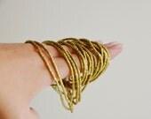 African shiny brass short tube beads (1 strand)  African beads, bohemian beads,Spiritual Jewelry Making Supplies