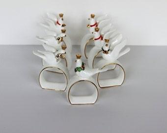 Napcoware Bone China Napkin Holders, Set of 7