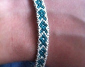 Teal & White: Awareness Ribbon Friendship Bracelet