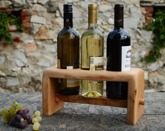 Rustic Wine Rack Solid wood Wine Stand Wooden Winery Recycled beech wood winery Wood wine rack