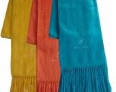 Peruvian alpaca wool scarf pink warm & soft (free shipping in USA)