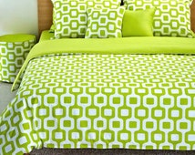 Popular items for lime green bedding on Etsy