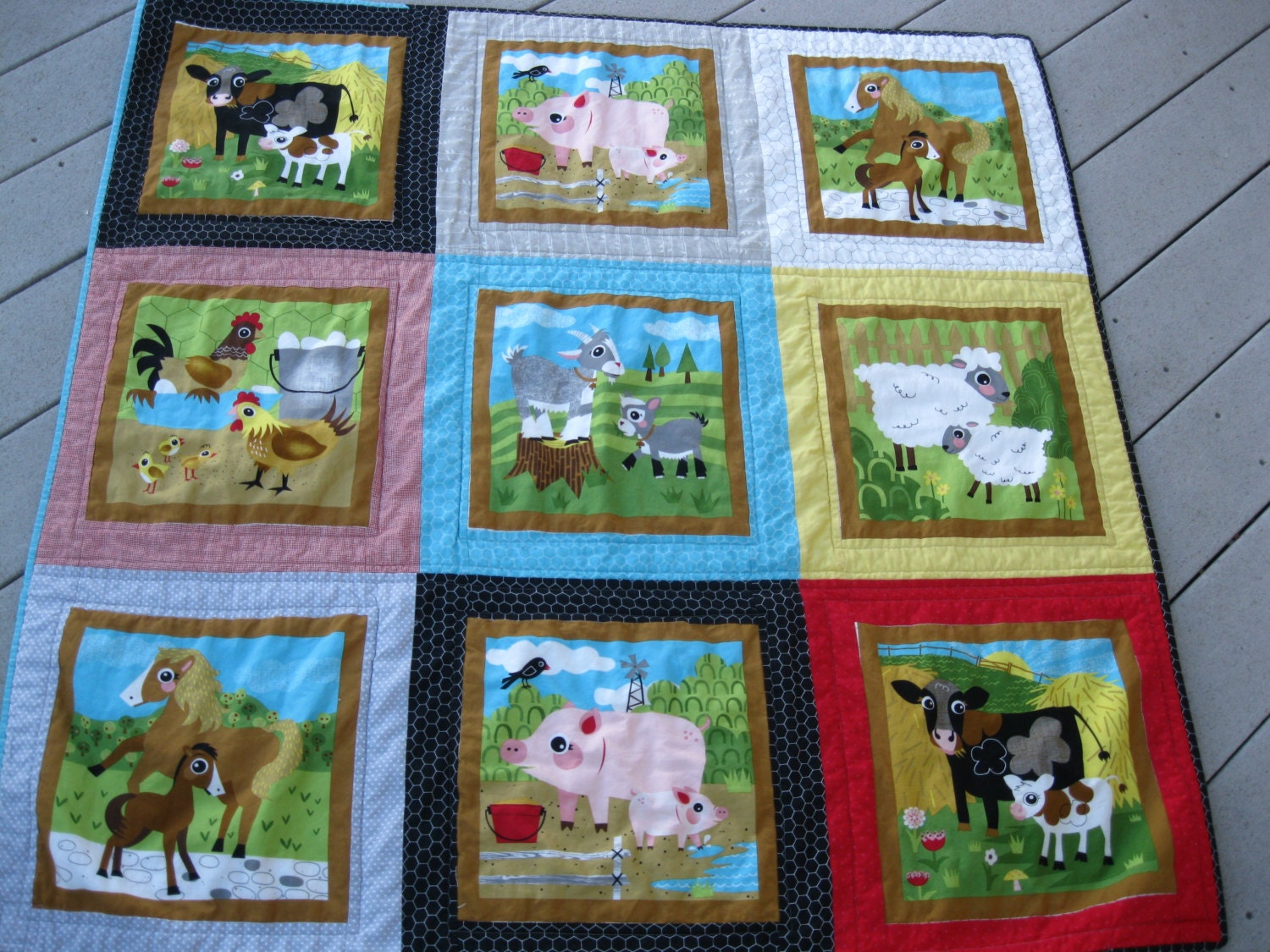 SALE On the Farm Baby Animal Quilt