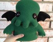 Forest Green Cthulhu Fleece Plush