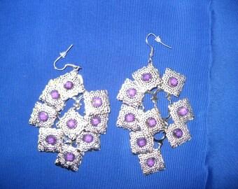 Special: Gypsy Squares Earrings / Chandelier Earrings / women / women's jewelry / teen jewelry / jewelry / pierced earrings