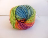Rainbow Yarn // Acrylic Yarn // Winter Yarn // Chunky Yarn // Knit Yarn // Crochet Yarn // Craft Supply // Scarf Yarn // Sock Yarn // SALE
