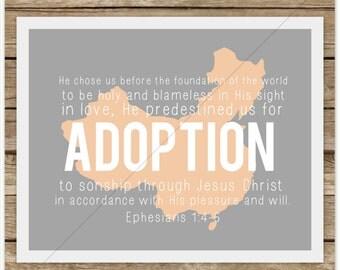 He Chose Us for Adoption (Ephesians 1:4-5) CHINA