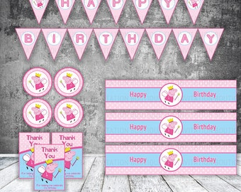 Peppa Pig Inspired Party Pack