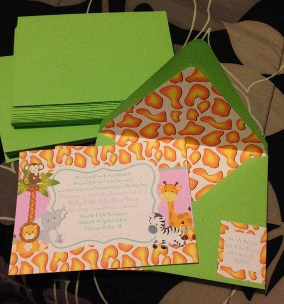 animal safari baby showers invitations jungle themed baby shower