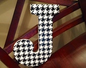 Hand Painted Houndstooth letters