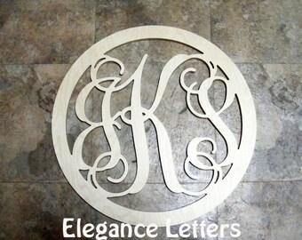 """20"""" Monogram Door hanger, Initial Monogram Door Wreath, Wall Hanging, Wooden Monogram Letters"""