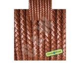 DB06118 - 0,40 meter x 6.00mm Copper, Round Braided Leather Cord