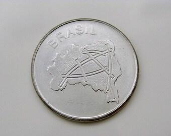 1984 Coin Brazil 10 Cruzeiros