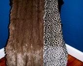 Luscious Faux Leopard/ Mink Minky Blanket