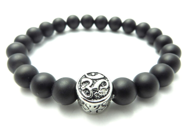 onyx mala bracelet s mala jewelry om namaste