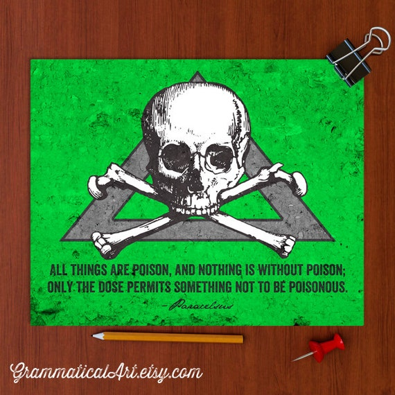 Toxicology Poster Science Poster Paracelsus By Grammaticalart