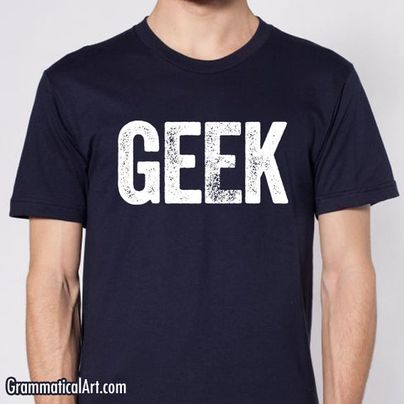 men 39 s geek shirt cool nerdy t shirt science by grammaticalart
