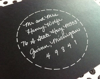 ENCIRCLED JUDITH : Custom Wedding Calligraphy Envelope Addressing