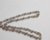 Vintage Crown, Inc. Fancy Link Silver Tone Necklace
