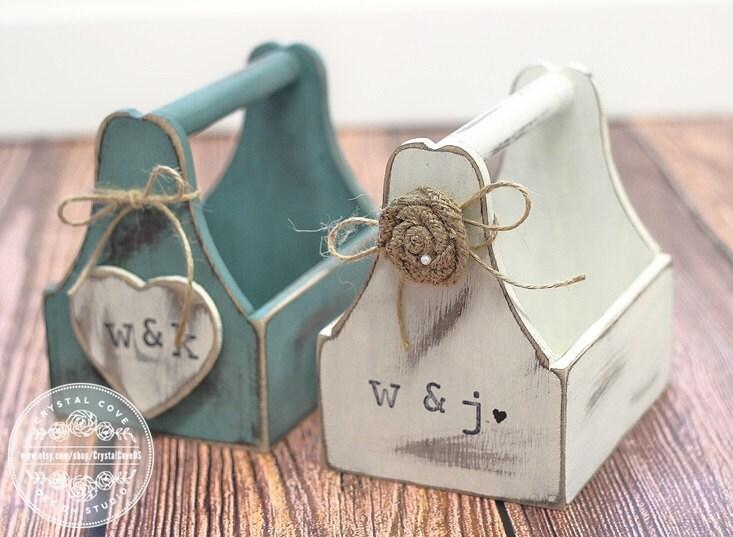 Flower Girl Gift Baskets : Rustic wedding flower girl basket antique vintage coutry
