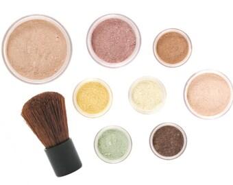 10pc VINTAGE Mineral Makeup Kit - Full Sizes - Customize Free